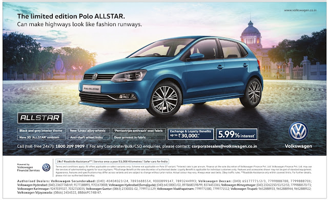 The limited edition Polo AllSTAR with great offers | January 2017 Sankranthi festival discount offers
