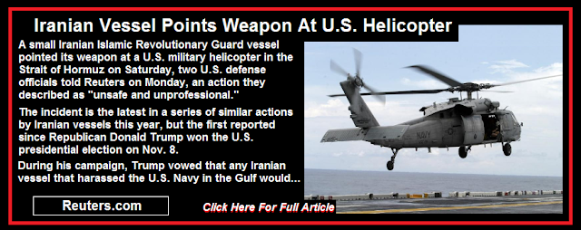 Iranian Vessel Points Weapon At U.S. Helicopter