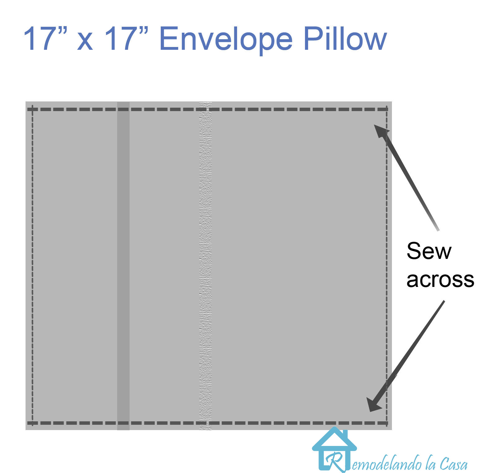how to make an envelope pillow