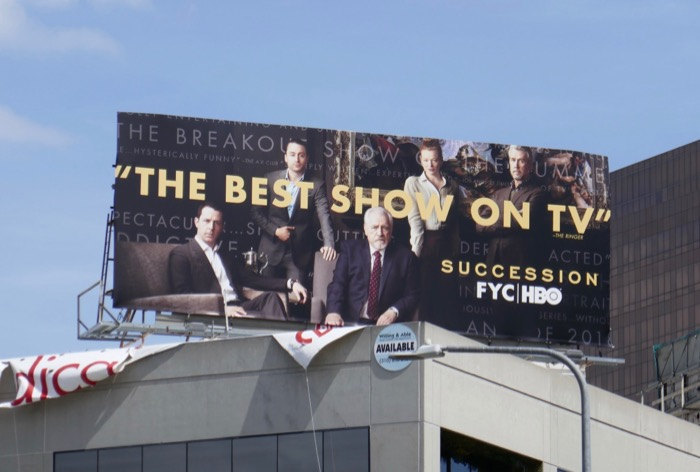 Succession 2019 Emmy FYC billboard