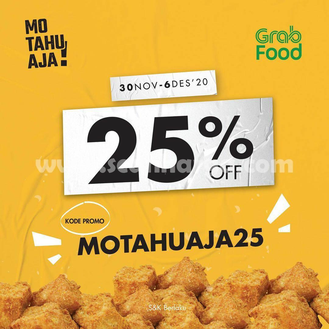 Promo Mo Tahu Aja Diskon 25% Delivery via Grabfood