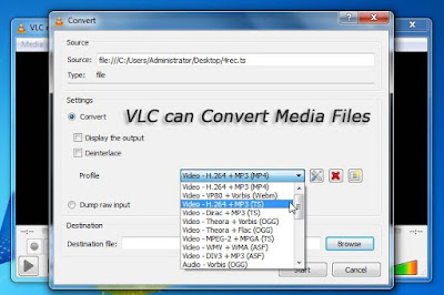 VLC can Convert Media Files
