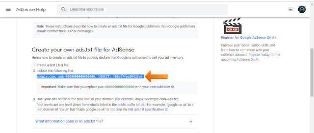 How to solve 'Earnings at risk – One or more of your sites does not have an ads.txt file Fix this now to avoid a severe impact on your revenue' in hindi.