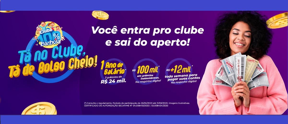 Bolso Cheio Promoção Barbosa Supermercado 2020 - Participar, Prêmios, Raspadinha