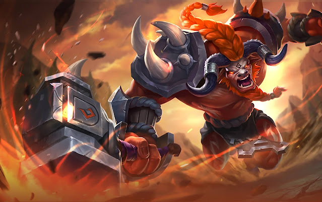 Minotaur Son of Minos Heroes Tank Support of Skins Mobile Legends Wallpaper HD for PC