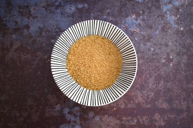 demerara sugar in a bowl