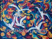 Goélands au Canada, thème semi-abstrait par Clémence St-Laurent