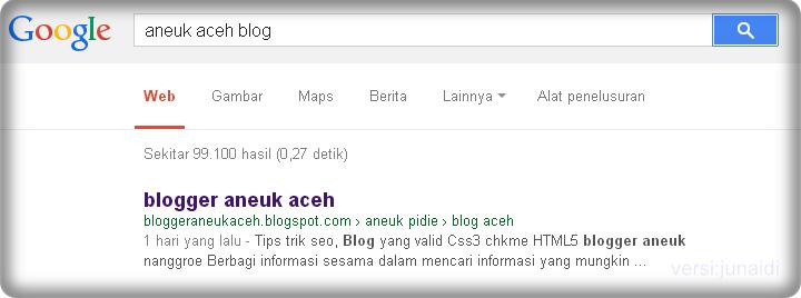 contoh no 1 di google