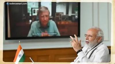 pm modi talk with bill gates, bill gates
