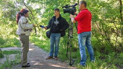 Ирина Зоря комментирует ситуацию журналистам. Фото Родион Красновид