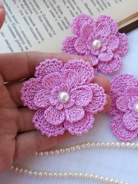 Patrones De Flores En Crochet Ll