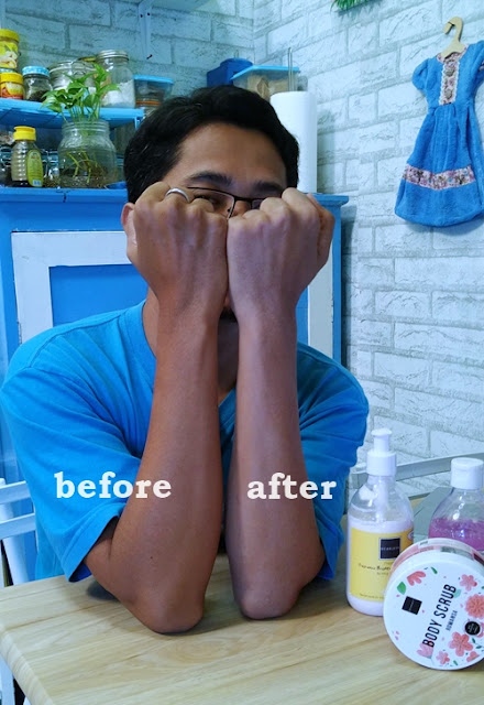 before after Scarlett Whitening Body Lotion