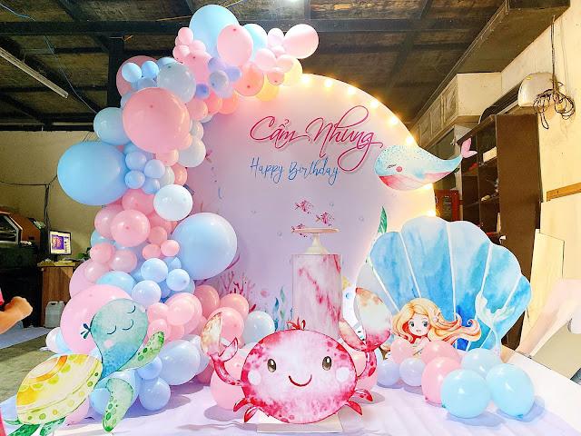 trang trí sinh nhật bé gái tại hà nội