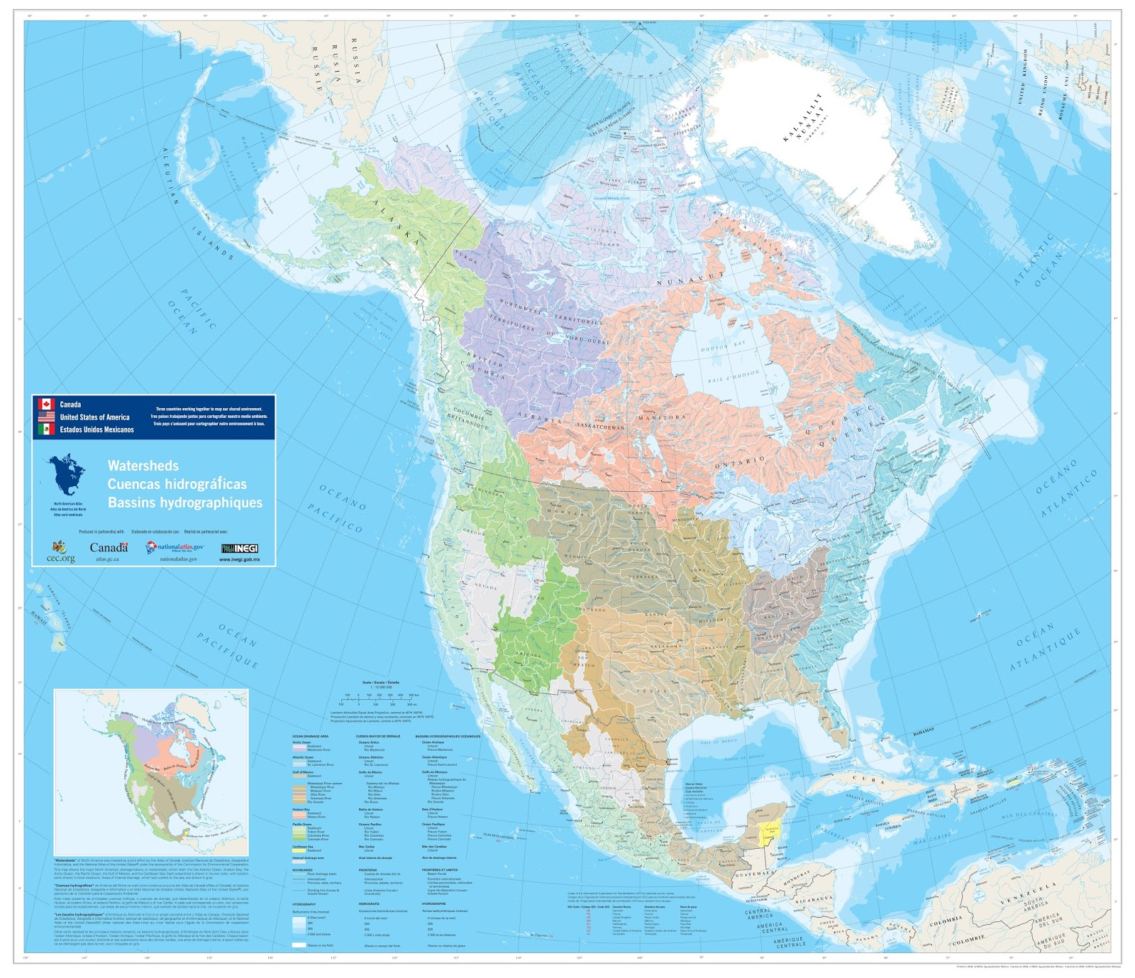 North American Watersheds