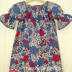 Pippa Tunic in Navy Paisley