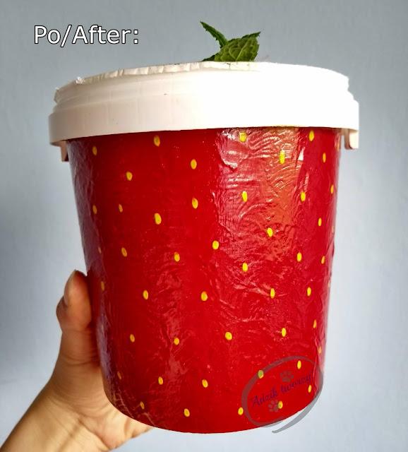 Malowanie DIY doniczka-truskawka upcykling - Adzik tworzy