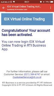 trading saham dengan modal virtual