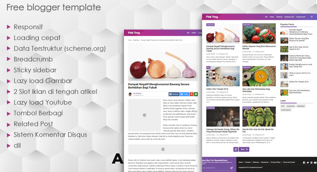 Free Download Template Blogger Versi Premium Gratis Baru SEO Responsive Mobile Friendly
