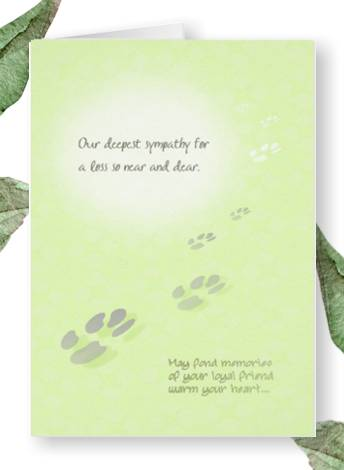 our deepest sympathy - fond memories pet loss card