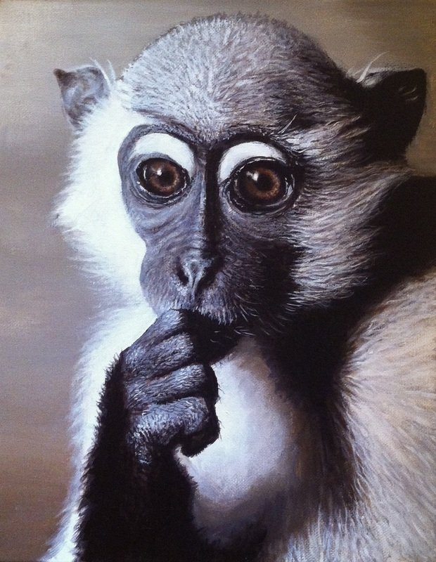 11-Monkey-Nick-Sider-Realistic-Animal-Paintings-more-than-a-Photo-Image-www-designstack-co