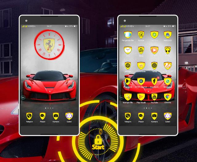 Download Tema Oppo A39 Terbaru dan Terkeren - Mobil Ferrari