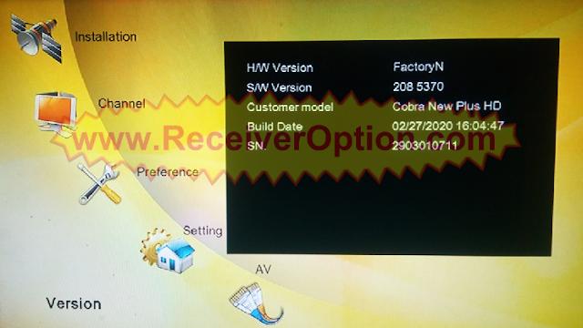 SUPERMAX COBRA NEW PLUS HD RECEIVER NEW SOFTWARE