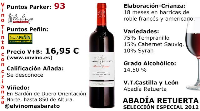 Comprar vino tinto Abadía de Retuerta Selección especial 2012