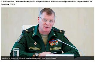 The Ministry's spokesman, Maj. Gen. Igor Konashenkov