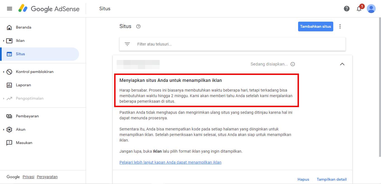 Pesan Dari Google Adsense