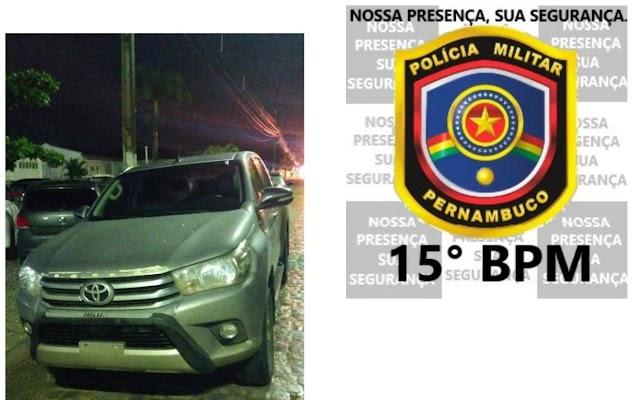 Carro roubado recuperado em Belo Jardim, PE