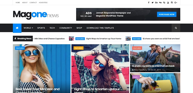MagOne Free Blogger Template