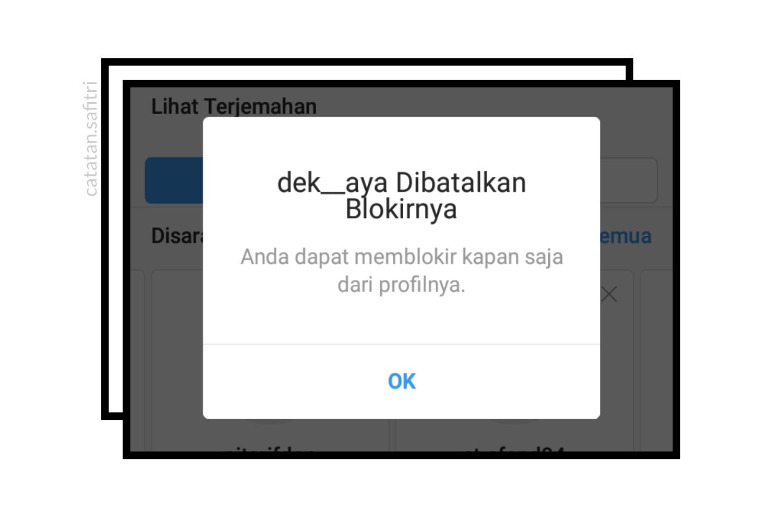 tiba sekarang ingin membatalkan blokiran tersebut Cara Membatalkan Blokir (Unblock) Akun Instagram Teman