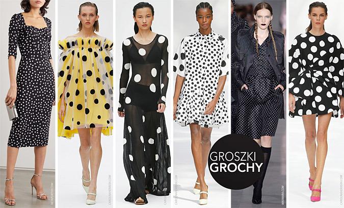 groszki modne wiosna lato 2020