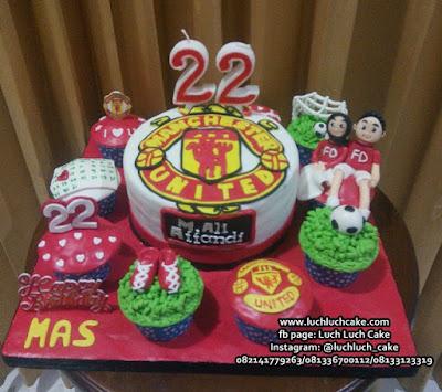 Kue Tart dan Cupcake Manchester United Untuk Pacar