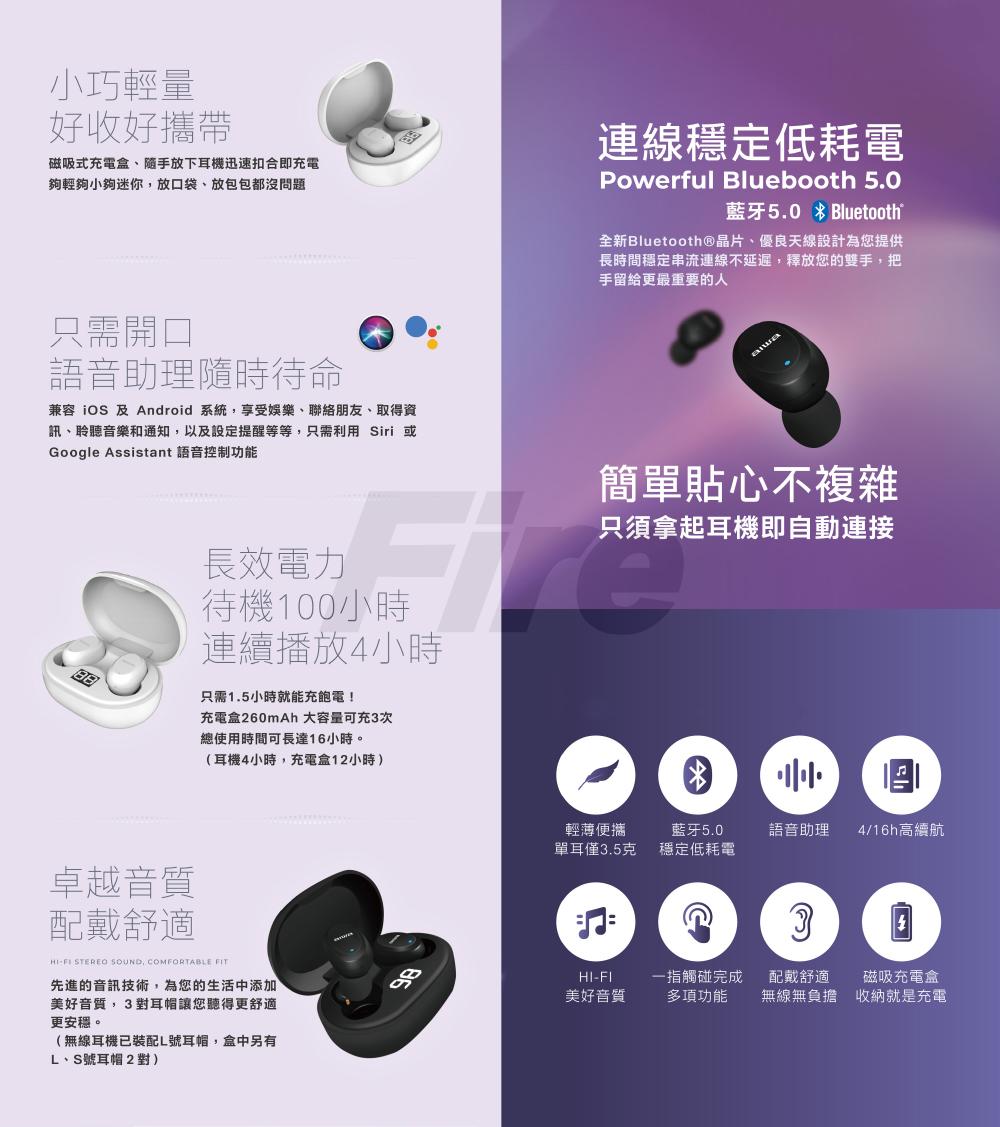 【原廠公司貨】 AIWA 愛華 AT-X80J 無線 X80J 耳機 低耗電 真無線藍芽耳機 藍芽耳機 黑白兩色可選