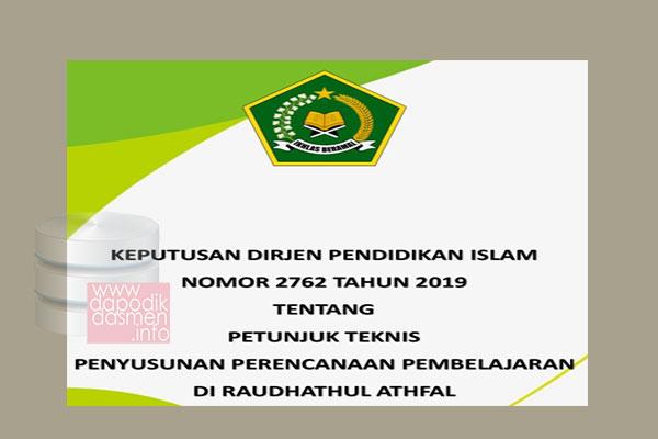 Juknis Penyusunan RPP RA Sesuai SK Ditjen Pendis Nomor 2762 Tahun 2019, Petunjuk Tekhis Penyusunan Perencanaan Pembelajaran (RPP) Raudhatul Athfal (RA), 9 (Sembilan) Juknis Untuk Perkuat RA Diterbitkan oleh Kemenag