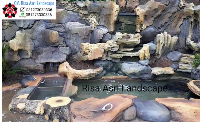 informasi mengenai jasa pembuatan dekorasi kolam tebing di kota surabaya