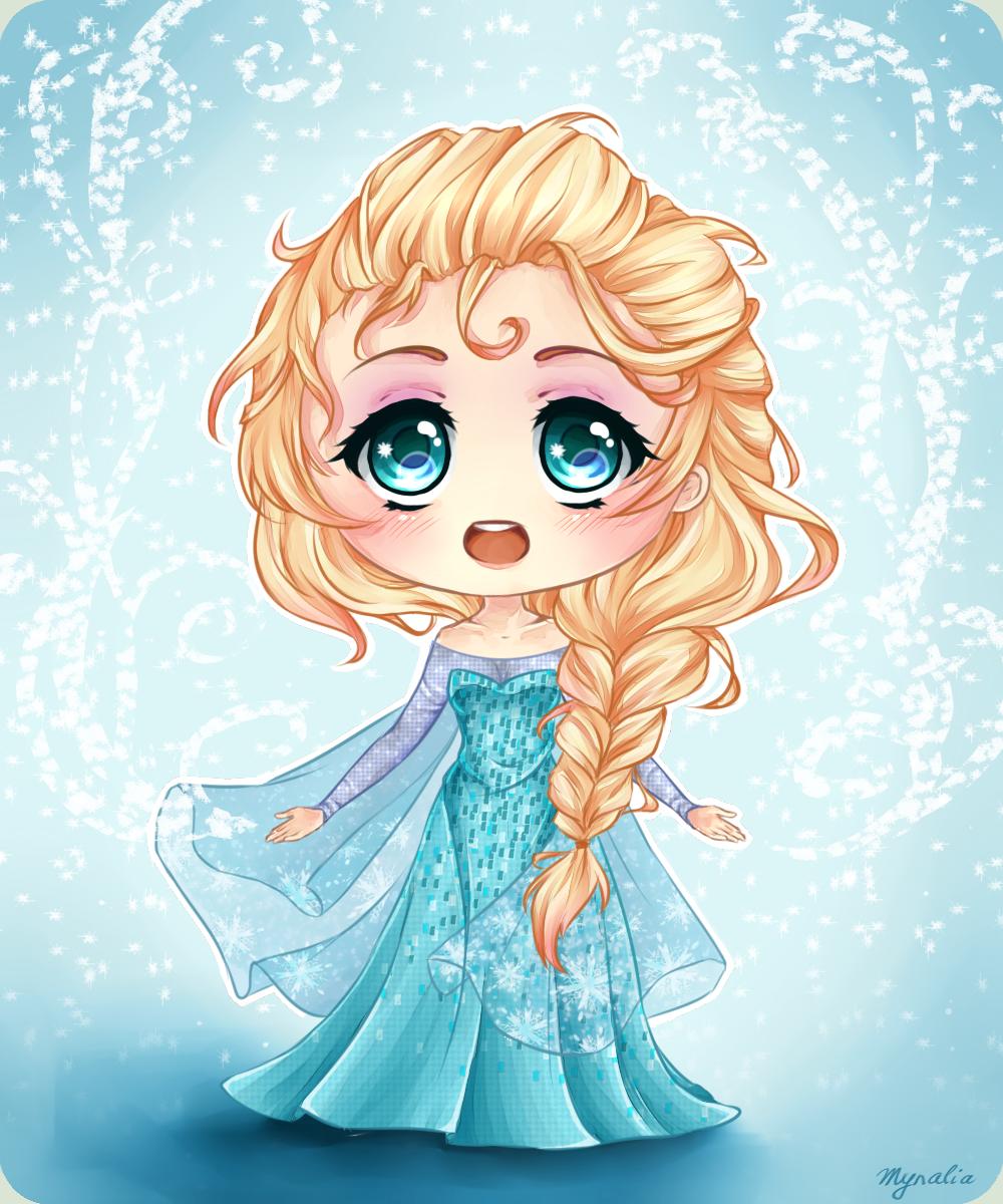 princess Elsa chibi công chúa nữ hoàng băng giá 9