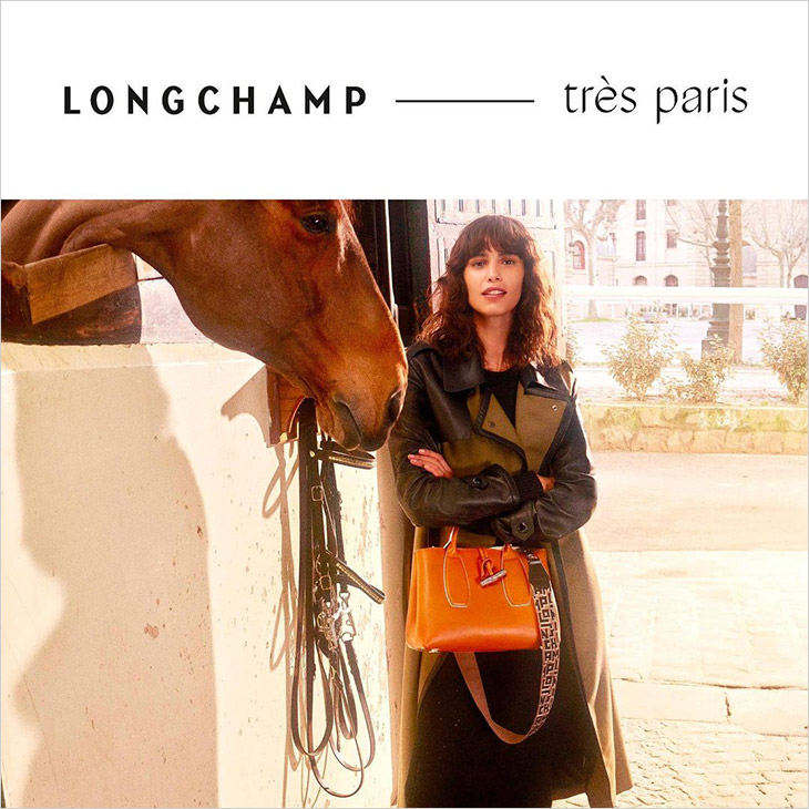 With FW21 collection, Longchamp celebrates its Parisian origins and equestrian heritage