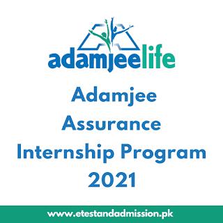Adamjee Assurance Internship Program 2021