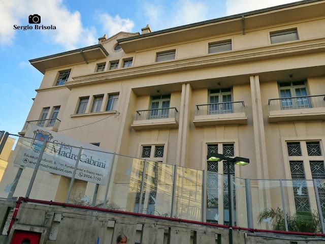 Vista da fachada do Colégio Madre Cabrini - Vila Mariana - São Paulo