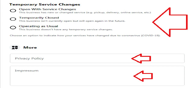 TEMPORARY SERVICE CHANGES AND PRIVACY POLICY