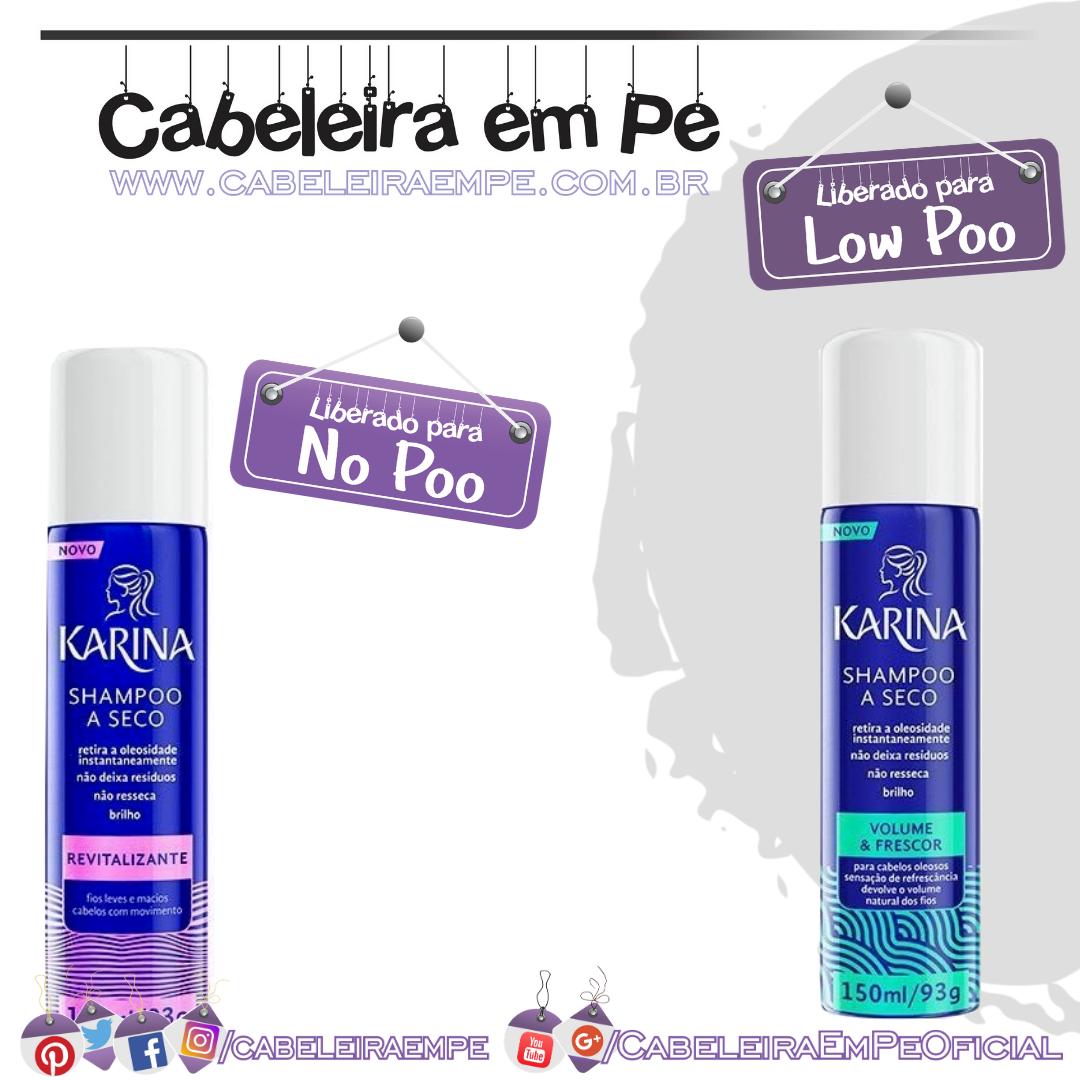 Shampoos a Seco Karina - Volume & Frescor e Revitalizante (No Poo)