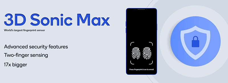 Qualcomm introduces 3D Sonic Max, a larger and improved ultrasonic fingerprint reader