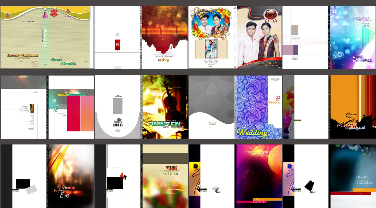 Wedding, Album, DVD, Cover, Design, 12×18, PSD, Templates,