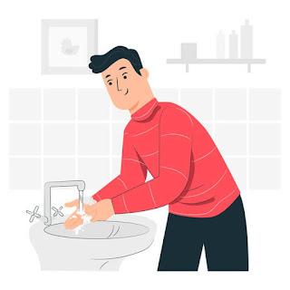 cuci tangan pakai sabun sebelum main rubik