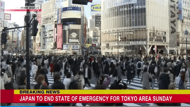 Japan Will End Emergency Situation in Tokyo and Osaka Area on March 21