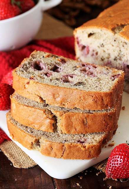 Sliced Fresh Strawberry Bread Image