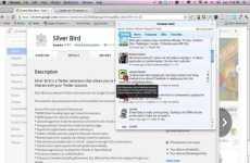 Silver Bird: cliente de Twitter en una extensión de Chrome