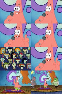 Polosan meme spongebob dan patrick 92 - patrick stand up comedy tapi gak lucu